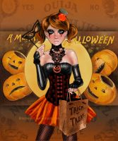 Emo Halloween Girl by kharis-art