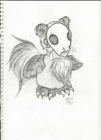 Panda Gryphon thingy by Echo-Neko8