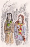 Snape and Lily by Gwenniel