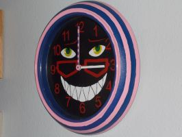 Cheshire Cat Grell clock by cutiechibi