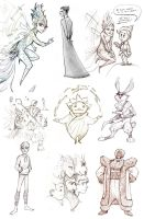 Rise of the Guardians Sketch Dump by breyica