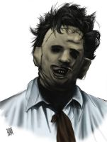 Leatherface speedpaint by viciousinjustice