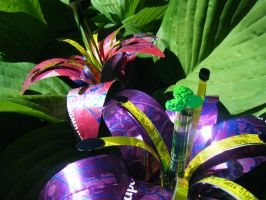 Recycled Lg Pink-Purple Lilies by Christine-Eige