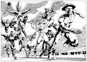 JSA commission, done! by Goldmanpenciler