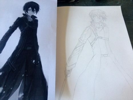 Kirito Sketch by Latino157
