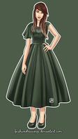 Romantic green by fashiondrawings