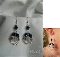 Blue Elegance Earrings by DOC-Ash1391