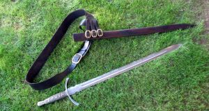 Sword of Truth with Scabbard and Baldric by HellfireForge