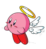 Cupid Kirby by Miniatureowl