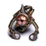 Steampunk Robot Ring 1 by CatherinetteRings