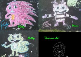 HTF Chalk Drawings by TheRealTDAGeena