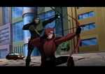 Arrow\The Flash: JLU Style: Ollie and Roy by AMTModollas