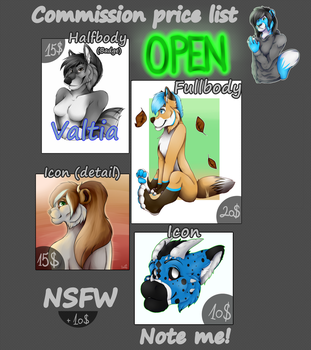 [Commission price list] OPEN by DeanQa