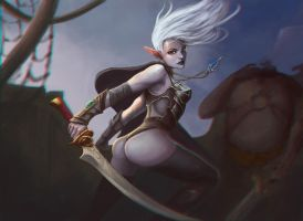 Drow posterior study by StoryKillinger
