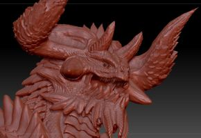 Progress Bull dragon 3D by Dragonio3