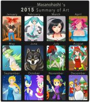 Art summary 2015 by Masanohashi