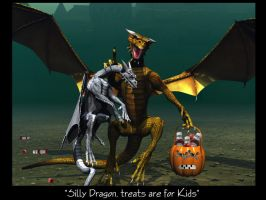 Silly Dragon Trick or Treat by Casperium