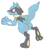 Riolu by Ikpoke