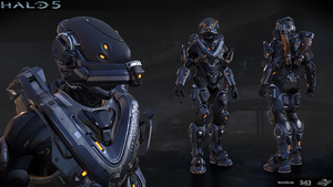 Halo 5: Mako armor by profchaos354