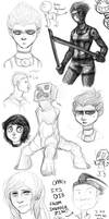 Huge Sketch Dump -12 by AccursedAsche