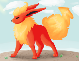 Painting: Flareon by kanookies