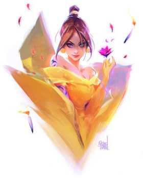 Belle Sketch by rossdraws