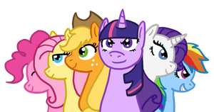 MLP The Mane 6 by The-Clockwork-Crow