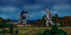 Kiryu vs Mecha Godzilla by MrJLM18