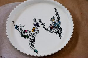Peacock Pastillage Plate by setsuntamew
