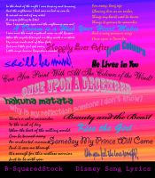 Disney Song Lyric Brushes by B-SquaredStock