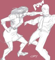 LOIS LANE PUNCHES LEX LUTHOR by Ragnaroker