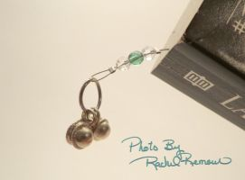 Paperbook Bookmark Green Clear Crystal 59 by TheSortedBead