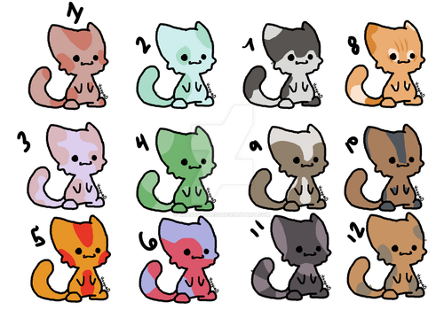 Free Kitten Adopts Closed by GrassGoddess