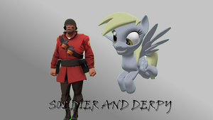 Soldier and Derpy by FD-Daylight