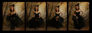 black corset set 2 by magikstock