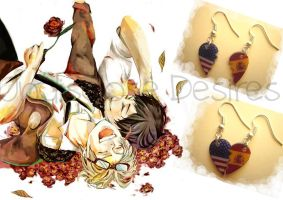 APH - Spagna x America - Half Heart Earrings by Undisclose--Desires
