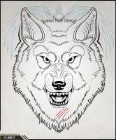 Wolf Head Tattoo v2 by AbsoluteWolf