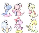 Yoshi's Story yoshis by mewgal