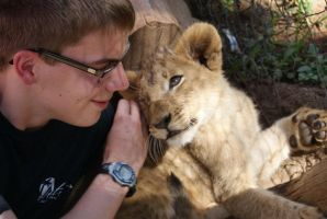 Lion Cub and Me by JosephTimbury