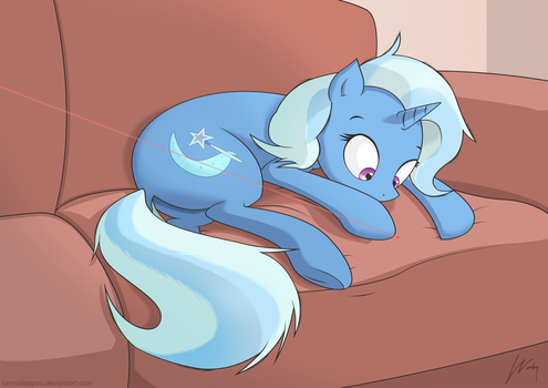 Trixie being a silly horse by SarmaTeppou