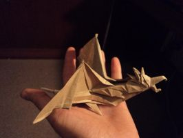 Origami Wyvern by Lontuku