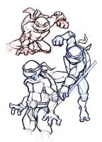 TMNT doodles by Monkill