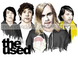 we're a big fans of The Used by neverlandART