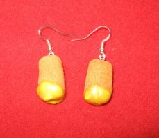 Fish and custard earrings by StregattaPuponzi