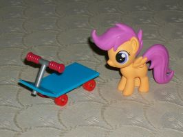 Scootaloo's Scooter - Custom-Made Toy by bobhershey