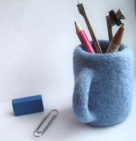 Needle-felted mug by Scarygothgirl