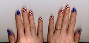 Independence Day Nail Design by LovedPurpleAngelWife
