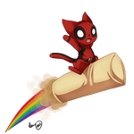 Deadpool Kitty by Heuring