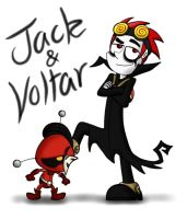 Jack and Voltar by HappyEvil101