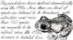 Frog populations have declined by Claw-Ravenscroft